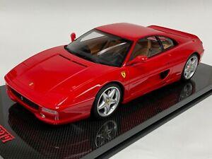 1/12 GT Spirit Ferrari F355 in Rosso Corsa Red  GT242 on Carbon Fiber Display