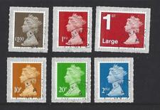 GREAT BRITAIN 2018 6 NEW DEFINITIVES PRINTED BY WALSALL M18L  FINE USED