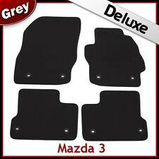 Mazda 3 Mk2 2008-2013 8-eyelets Tailored LUXURY 1300g Carpet Car Floor Mats GREY
