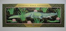 "VINTAGE 1984 LOUISIANA WORLD EXPOSITION NEW ORLEANS WORLD'S FAIR POSTER ""GATOR"""