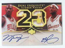 2006-07 DUAL EXQUISITE Number Pieces Michael Jordan / Lebron James Auto /23 Repr