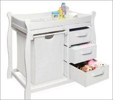Baby Furniture Changing Table Nursery Station Dresser Hamper Diaper Storage