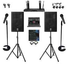 PROFESSIONAL DJ KARAOKE SYSTEM 1TB LAPTOP YAMAHA MIXER DXR12 SPEAKERS CHURCH PA