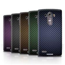 Étuis, housses et coques bleus en fibre de carbone pour téléphone mobile et assistant personnel (PDA) LG