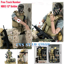 """12"""" 1/6 Military Army Combat Wounded Soldier Action Figure Model Christmas Toy"""