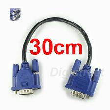 30cm Short D-Sub VGA SVGA Male PC Laptop to LED TV AV Video Movie Transfer Cable