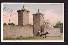 c1908 Donkey Cart Old City Gate St.Augustine  Florida postcard