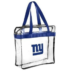 New York Giants CLEAR Messenger Tote Bag Purse - Meets Stadium Security Reqs