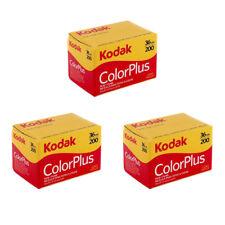 3 Rolls Kodak ColorPlus Color Plus 200 35mm 135-36 Negative Film Fresh 04/2019