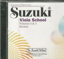 Suzuki Viola School Volumes 3 & 4 Cd Revised Sealed Compact Disc New Preucil