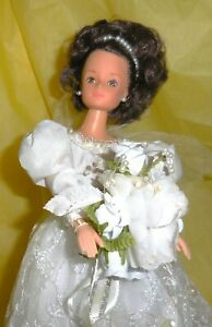 Barbie Bride 12 inch Marked Real Barbie Uneeda  With Stand