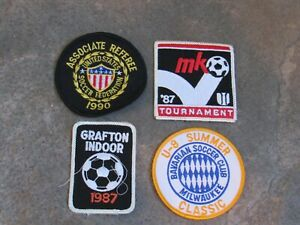 Vintage Lot of 4 Soccer Patches 1880's 1990 United States Referee Federation