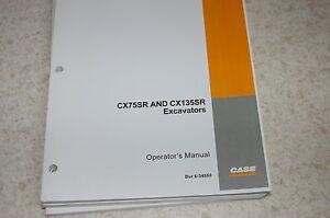 CUSTODIA CX75SR CX135SR Crawler Excavator Owner Operator Maintenance Manual 2002