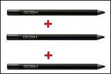 Gosh Velvet Touch Eyeliner Waterproof  X 3 pcs BLACK INK Vitamin E & Jojoba Oil