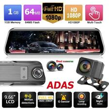 Anytek T900+ 9.66'' Touch Car Rearview DVR Camera 1080p+1080p ADAS WDR Dash Cam
