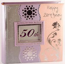 Happy 50th Birthday Photo Album for Lady   Present   Keepsake   Gift Boxed