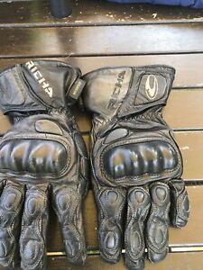 Richa Black Motorcycle Gloves Waterproof M