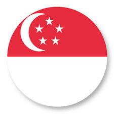 Magnet Aimant Frigo Ø38mm Drapeau Flag Maillot Echarpe Singapour Singapore sg