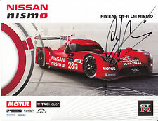 Chris Hoy Nissan GT-R LM Nismo Hand Signed Promo Card Le Mans 2015.