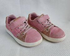Stride Rite M2P Maci Toddler Girls Sneaker US 8M EU 24 Leather Pink Gold Shoes