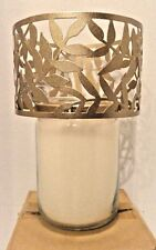 NEW ~ Olive Tendril ~ Bronze Shimmer Jar Candle Shade