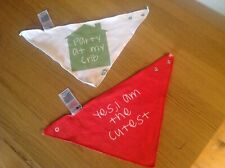 Mothercare Slogan Triangle Bibs - Party At My Crib