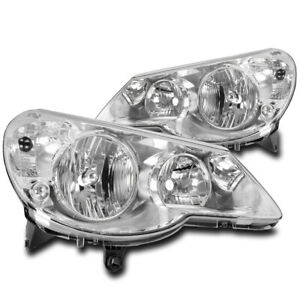 FOR 07 08 09 10 CHRYSLER SEBRING CRYSTAL STYLE HEADLIGHTS HEADLAMPS LAMPS CHROME