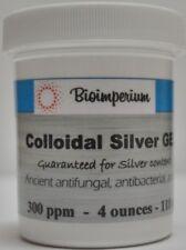 300 ppm colloidal silver gel 4 oz ounces nano sized - no scents or colors