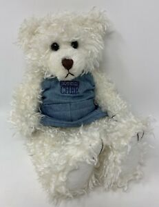 First & Main Scraggles Pampered Chef White Bear W/Denim Embroidered Apron Plush