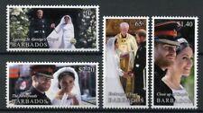 Barbados 2018 MNH Prince Harry & Meghan Royal Wedding 4v Set Royalty Stamps