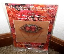 "CREATIVE BEGINNINGS~SILK RIBBON EMBROIDERY""A POSY OF ROSIES"" PIN KIT #RK103~NIP"