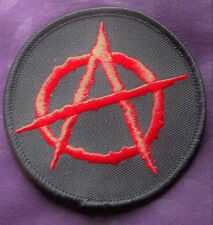 Anarchy Patch Punk Biker Revolution 3%Ers Rebellion Anarchism Diy