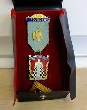 More details for vintage masons masonic freemasons enamel founder medal highstone 70s/80s (mar)