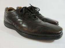 ECCO Mens Brown Leather Bicycle Toe Driving Heel Lace Up Oxfords 46 US 12-12.5