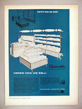 Spacemaster Shelf & Display Equipment PRINT AD - 1966 ~~ Reflector Hardware Co.