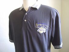 Los Angeles Lakers Pro Edge Nba Black Basketball Polo New with Tags Shirt Size L