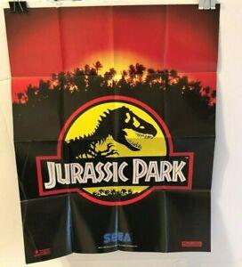Sega Jurassic Park Game Gear Poster Insert Folded Advertisement