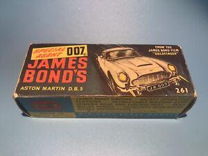 CORGI TOYS VINTAGE 261 BOND 007 DB 5 ASTON MARTIN CAR ORIGINAL OUTER BOX RARE