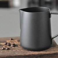 Stainless Steel Black Coffee Jug Frothing Pitcher Barista Tool Cup Accessories