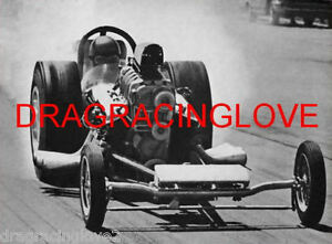 """""""Unknown"""" early 60s BLOWN Front Engine """"SlingShot"""" Dragster PHOTO! #(5)"""
