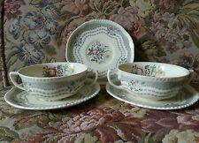 Ridgways - Ridgway - RUTLAND - Grey - Cream Soup Bowl & Liner