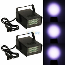 2 x Mini DJ Strobe Light Flash Light 24 LED Bulb Club Stage Lighting Party Disco