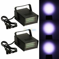2 x Mini DJ Strobe Light Flash Light 24 LED Bulb Club Stage Lighting Party Disco