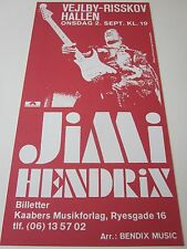 Jimi Hendrix concert poster, reproduction after original, Denmark 1970 authentic