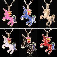Lovely Colorful Horse Animal Enamel Chokwe Pendant Necklace Women Jewelry Gift