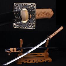 HAND MADE JAPANESE SAMURAI SWORD KATANA FULL TANG VERY SHARP BLADE CAN CUT TREE