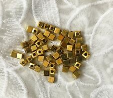 4mm  Gold Plated Square Ball Beads,Spacer Beads, 55 pcs,Jewellery Findings,