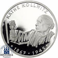 BRD 10 DM Käthe Kollwitz 1992 Silber Spiegelglanz Münze in Münzkapsel