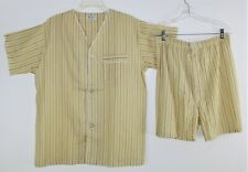 Vintage 50's 60's  DIPLOMAT Men's Striped Cotton Blend Shorts Pajamas - M