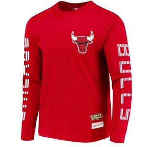 Chicago Bulls Mitchell & Ness NBA Outline Long Sleeve T-Shirt - Red